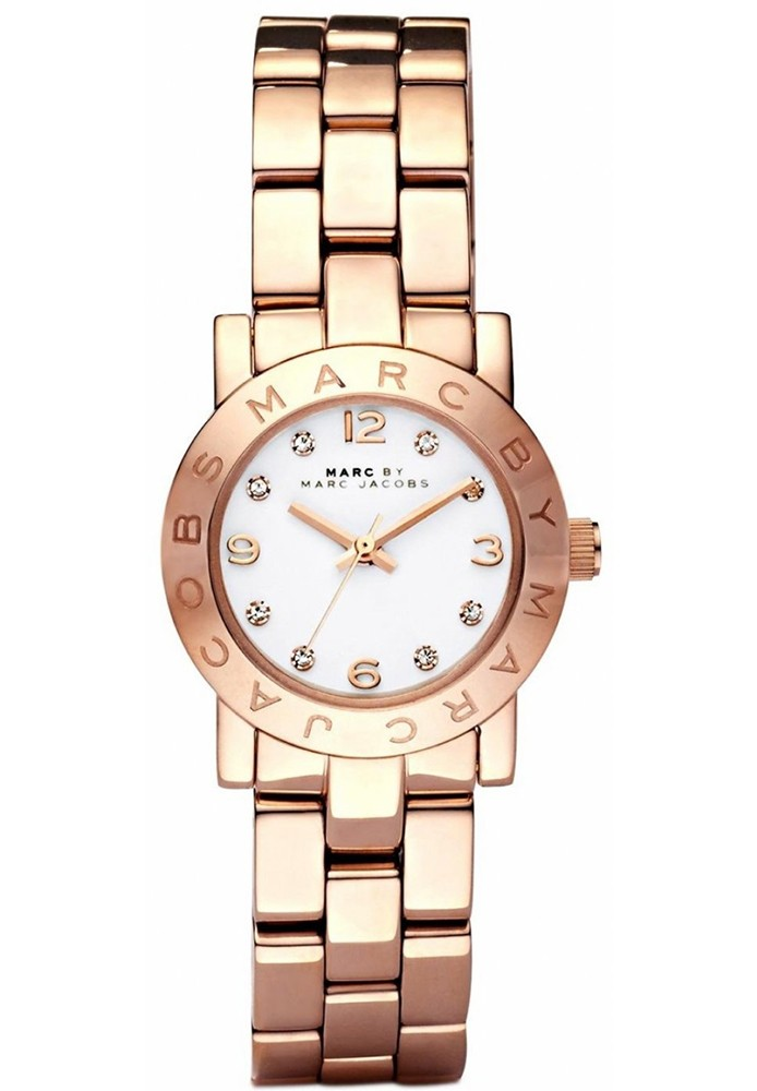 26f1683512787 Mini Amy White Dial Rose Gold-tone Stainless Steel Ladies Watch 26MM MBM3078