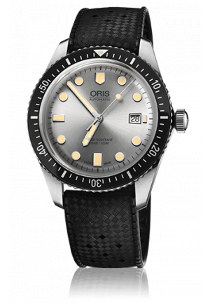 Oris Divers Sixty-Five Silver Dial Automatic Men's Rubber Watch 01 733 7720 4051-07 4 21 18