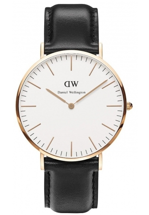 Daniel Wellington Men's  Classic Sheffield Analog Display Quartz Black Watch 40mm DW00100007