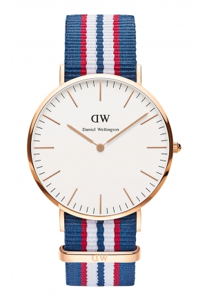 DANIEL WELLINGTON Belfast White Dial NATO Men's Watch 40mm
