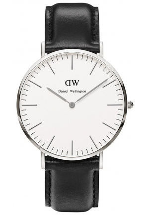 Daniel Wellington Men's  Sheffield Analog Display Quartz Black Watch 40mm DW00100020