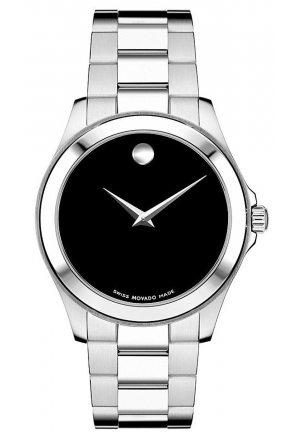 Movado Junior Sport Black Dial Stainless Steel Men's Watch 0605746