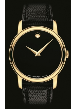 Movado Classic Museum Black Dial Mens Watch, 38mm