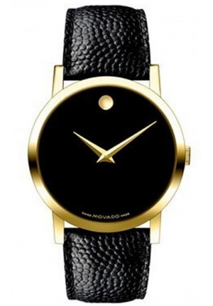 MOVADO Movado Classic Museum Black Dial Mens Watch, 38mm