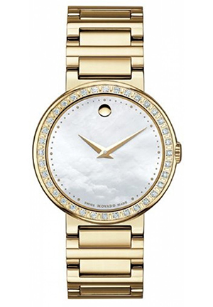 MOVADO Concerto White Mother-Of-Pearl Round Dial Watch, 30mm