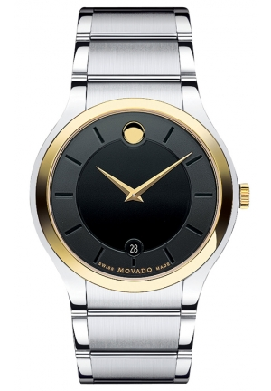 MOVADO Men's Swiss Quadro Two Tone Stainless Steel Bracelet 38mm