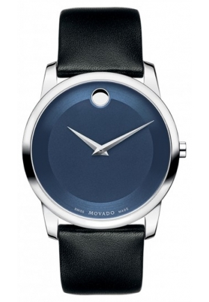 Movado Museum Blue Dial Stainless Steel Mens Watch 40mm