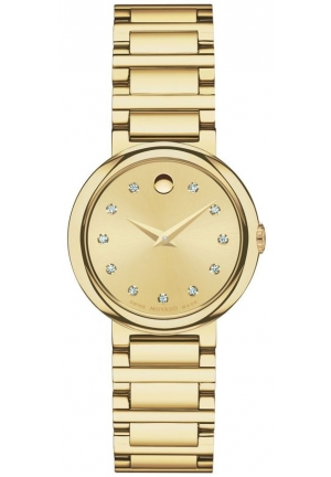 MOVADO Concerto Gold Soleil Yellow gold-plated Ladies Watch