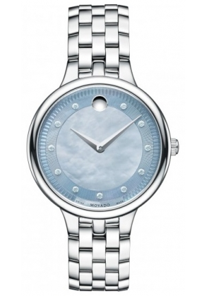 Movado Trevi Gray Mother of Pearl Dial Stainless Steel Ladies Watch