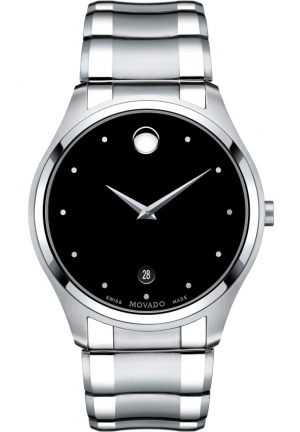 MOVADO MEN'S SWISS CELO STAINLESS WATCH 40MM