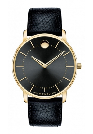 MOVADO Museum TC Black Leather 40mm