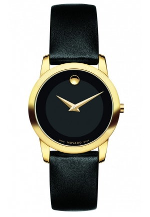 MOVADO Museum Classic Women's Gold PVD Watch, 28 mm
