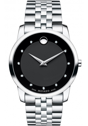 MOVADO Museum Men's Stainless Steel Bracelet Watch, 40 mm