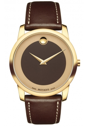 MOVADO Bold Brown Dial Leather Men's Watch, 40mm