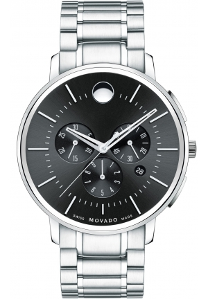 MOVADO Movado Men's TC Stainless Steel Chronograph, 44 mm