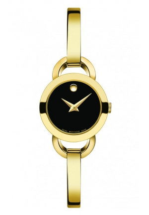 MOVADO Rondiro Mini Gold PVD-Finished Stainless Steel Bangle Bracelet Watch , 22mm