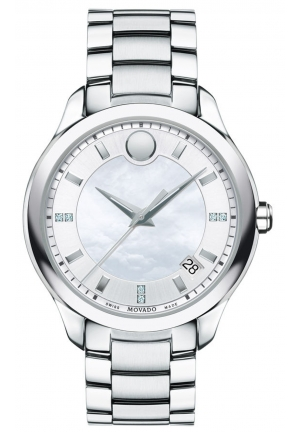 MOVADO Movado Women's Swiss Bellina Diamond Accent Stainless Steel Bracelet Watch 36mm