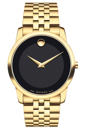 MOVADO Swiss Museum Classic Stainless Steel Bracelet Watch 40 MM