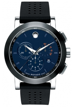 MOVADO Museum Sport Navy Blue Dial Men's Chronograph Watch