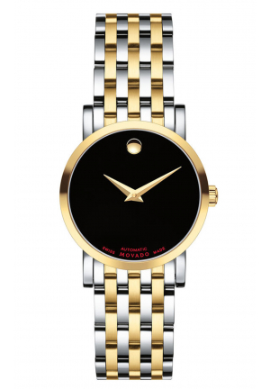 RED LABEL BLACK DIAL STAINLESS STEEL LADIES WATCH
