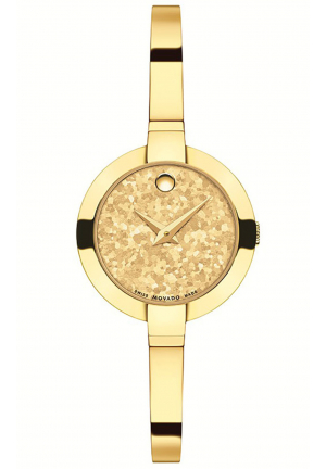 BELA YELLOW DIAL GOLD PVD BANGLE LADIES WATCH