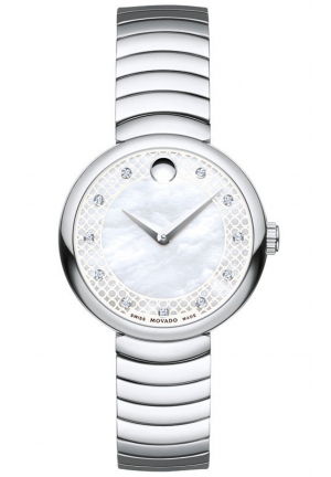 MYLA MOTHER OF PEARL STAINLESS LADIES WATCH, 28.5MM
