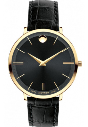 Movado Ultra Slim Black Ladies Watch 35mm