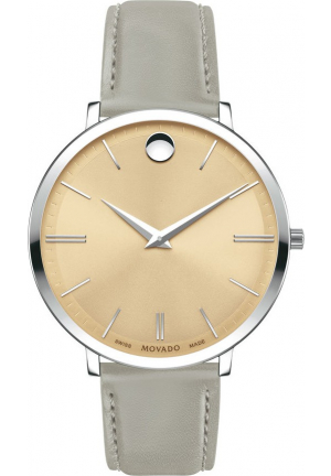MOVADO ULTRA SLIM GREY WOMEN'S WATCH 35MM