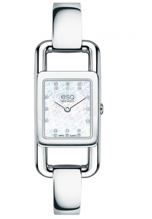 "ESQ ""Angle"" Diamond-Accented Stainless Steel Watch 20mm"