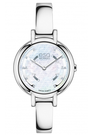 ESQ Contempo Diamond Mother of Pearl Dial Ladies Watch 30 mm