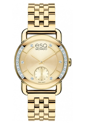 ESQ Movado Women's Swiss Quartz Gold Watch