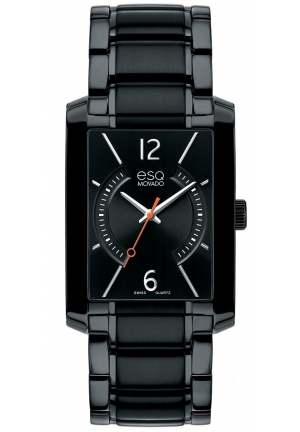 ESQ By Movado Synthesis Rectangular Black Ion-plated Men's Watch