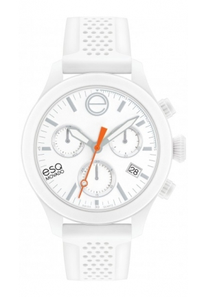 ESQ One Analog Display Swiss Quartz White Watch 44mm