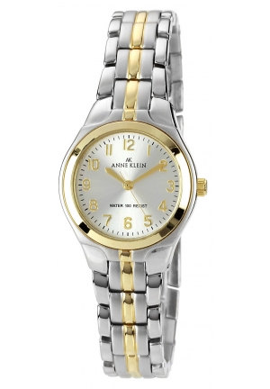 Anne Klein Watch, Women's Two Tone Bracelet 28x26mm