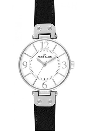 Womens's Black Leather Strap