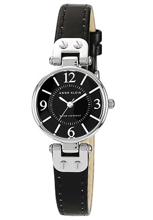 Women's Black Leather Strap 26mm