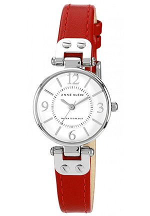 Women's Red Leather Strap 26mm