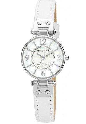 Women's White Leather Strap 26mm
