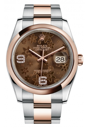 DATEJUST 36 OYSTER STEEL AND EVEROSE GOLD 116201-0105, 36MM