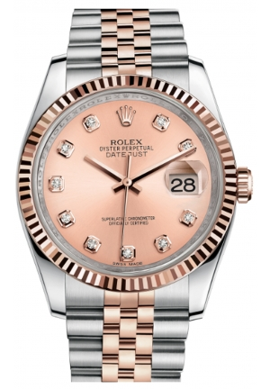 DATEJUST 36 OYSTER STEEL AND EVEROSE GOLD 116231-0057, 36MM
