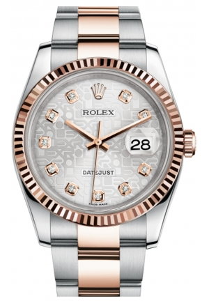 DATEJUST 36 OYSTER STEEL AND EVEROSE GOLD 116231-0077, 36MM