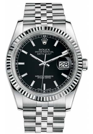 DATEJUST 36 OYSTER STEEL AND WHITE GOLD 116234-0085, 36MM