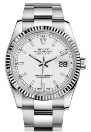 DATEJUST 36 OYSTER STEEL AND WHITE GOLD 116234-0127, 36MM