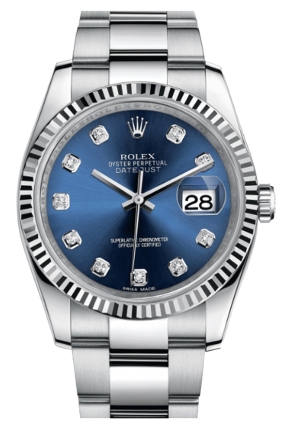 DATEJUST 36 OYSTER STEEL AND WHITE GOLD 116234-0134, 36MM