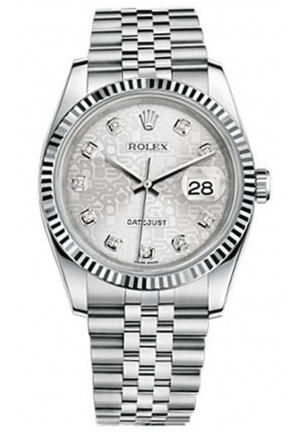 ROLEX DATEJUST STAINLESS STEEL MIDSIZE WATCH 116234, 36MM