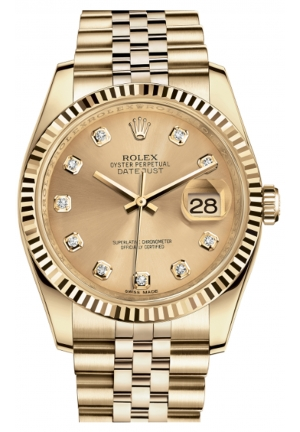 DATEJUST 36 OYSTER YELLOW GOLD 116238-0061, 36MM