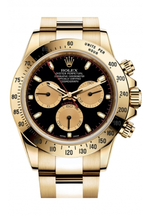 COSMOGRAPH DAYTONA OYSTER, 40 MM, YELLOW GOLD 116528-0036, 40MM