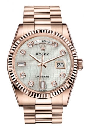 DAY-DATE 36 OYSTER EVEROSE GOLD 118235F-0108, 36MM
