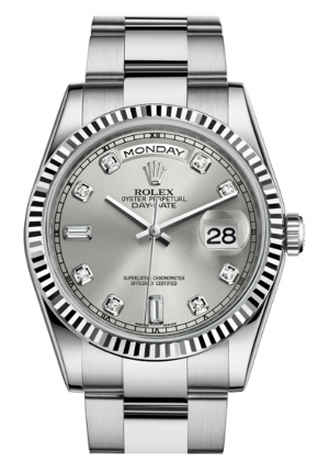 DAY-DATE 36 OYSTER WHITE GOLD 118239-0078, 36MM