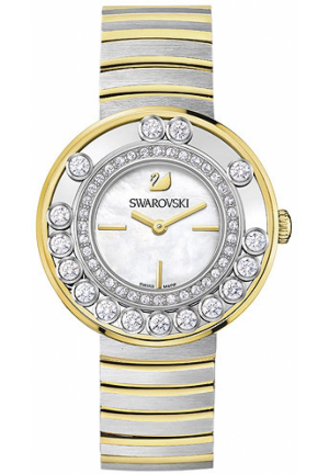 Swarovski Women's Lovely Crystals  Silver Stainless-Steel Swiss Quartz Watch